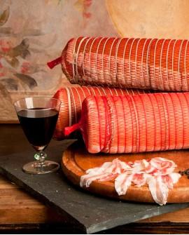 Pancetta nostrana arrotolata con cotenna doppio aroma 3kg - Salumificio Gamba Edoardo