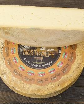Nostralpe di montagna a latte crudo meta 4.5kg stagionatura 90gg - Gildo Formaggi