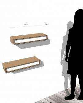 Espositore Aga Small mensola a muro - Nardi Mobili in Cartone