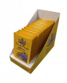 Box espositore contiene n. 25 bustine di Zafferano in Polvere da 0,125 grammi cadauna - Oro di Persia