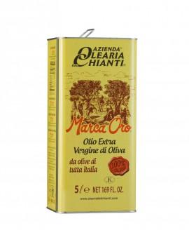 Lattina Marca Oro - Olio Extravergine d'oliva 100% Italiano 5 lt. - Azienda Olearia del Chianti