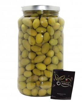 Olive Bella Cerignola in salamoia - pezzatura media G - vaso 3100ml - Agricola Fusillo