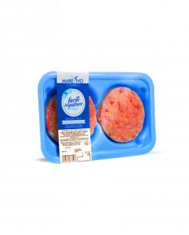 Fish Burger di Salmone 100g - Congelato - vaschetta 2 pezzi - scadenza 12 mesi - Pescheria Marevivo Castro