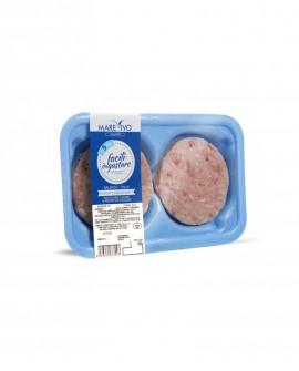 Fish Burger di Gambero 100g - Congelato - vaschetta 2 pezzi - scadenza 12 mesi - Pescheria Marevivo Castro