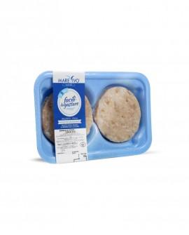 Fish Burger di Seppia 100g - Congelato - vaschetta 2 pezzi - scadenza 12 mesi - Pescheria Marevivo Castro