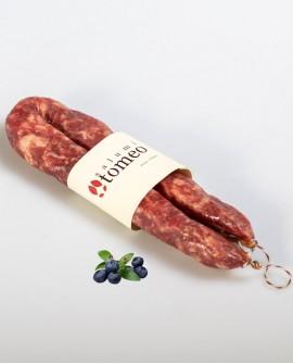 Salsiccia cilentana con mirto - 300g sottovuoto - stagionatura 30 giorni - Salumi Tomeo