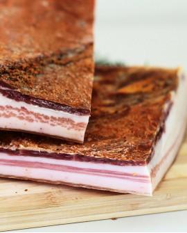 Pancetta tesa dolce - metà 2 Kg sottovuoto - stagionatura 3 mesi - Salumi Cembalo