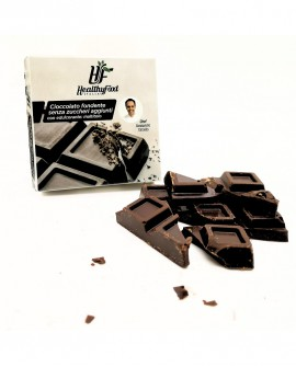 Tavoletta di cioccolato fondente extra 60% artigianale, senza zuccheri aggiunti, 30g - Healthy Food Italia