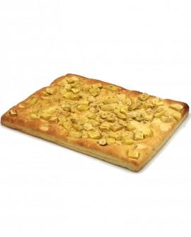 Focaccia con Patate e Rosmarino surgelata di semola rimacinata di grano duro - 40x60cm 1700g - cartone sfuso n.6 pezzi-Mininni