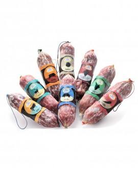 Salametto al vino chianti colli senesi DOCG  gr 200 FLOW PACK - Stagionatura 4 mesi  - Salumeria di Monte San Savino