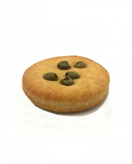 Focaccina alle Olive surgelata multicereali - 13cm tonda 110g - cartone sfuso n.44 pezzi - Mininni Buene Altamura
