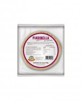 Piadinella fresca in ATM 50gg - 14cm tonda 55g - confezione 4 pezzi - Cartone 48 pezzi - L'Angolo della Piada