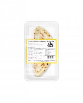 Cassone o Calzone mozzarella, patate e salsiccia - ATM 50gg - 200g - confezione 1 pezzo - Cartone 10 pezzi -L'Angolo della Piada