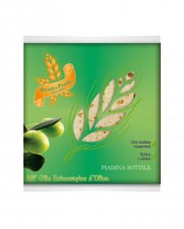 Piadina Sottile Evo qualità Verde fresca in ATM 50gg - 26cm tonda 120g - conf. 5 pezzi - Cartone 50 pezzi - L'Angolo della Piad