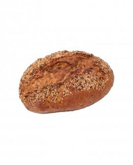 Pane con semi di Lino parzialmente cotto - 500g surgelato - Cartone 10 pezzi - pane alpino - Panificio Trenker Sudtirol