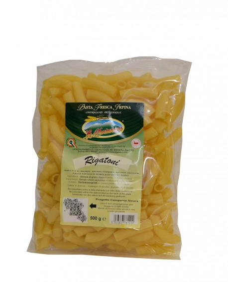 Rigatoni La Montanara - pasta fresca trafilatura in bronzo
