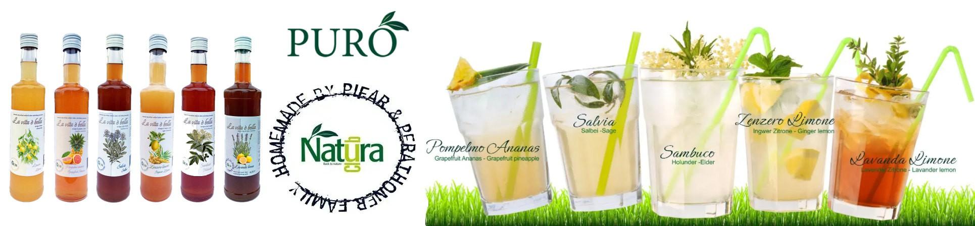 Sciroppi artigianali vendita online drinks estratti vegetali e naturali, bevande funzionali - PURO DRINKS NATURA