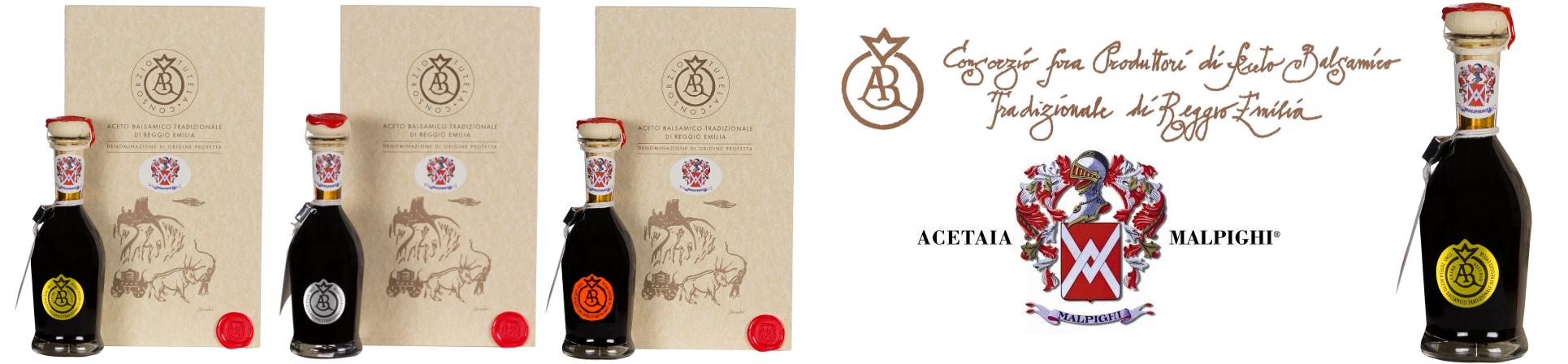 vendita online aceto balsamico tradizionale di Reggio Emilia - ACETAIA MALPIGHI