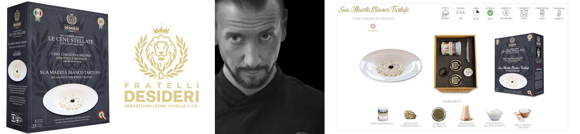 Cene stellate vendita online -chef Christian Milone 1 stella Michelin